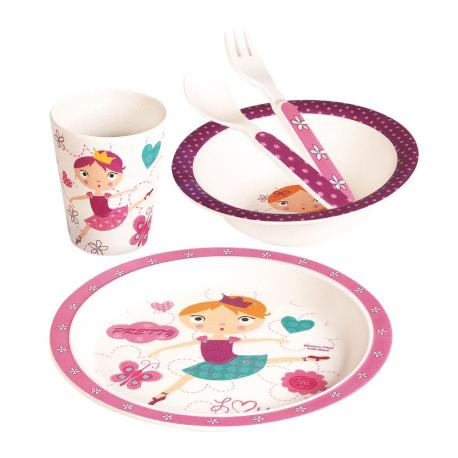 Dětské nádobí zbambusu, set, 5 dílů, Tanečnice