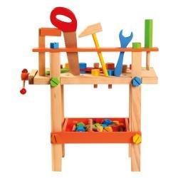 Dětský pracovní stůl s nářadím