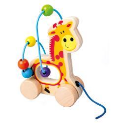 Tahací žirafa, dřevěný labyrint
