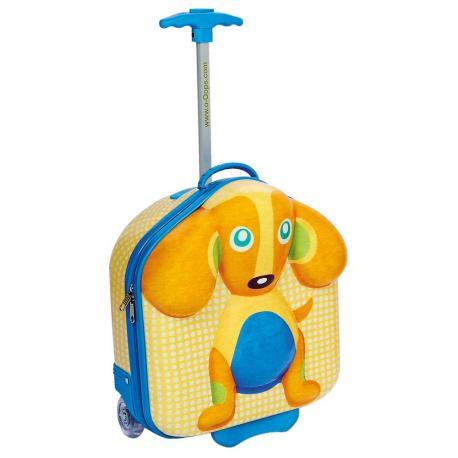 Kufřík s kolečky, pes