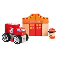 Dřevěné kostky - hasiči