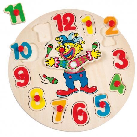 Klaun Otto, hodiny-puzzle