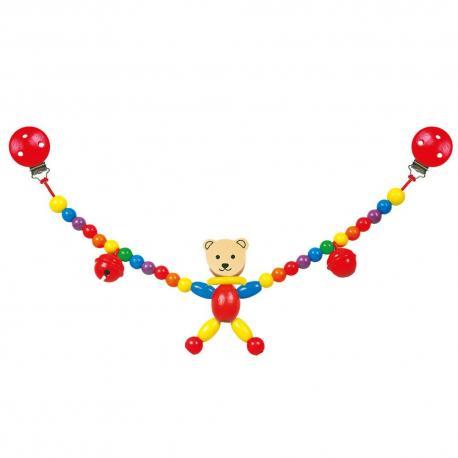 Řetěz do kočárku-medvěd-Cara