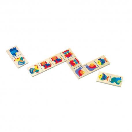 Domino - zvířata-v papír.kart.
