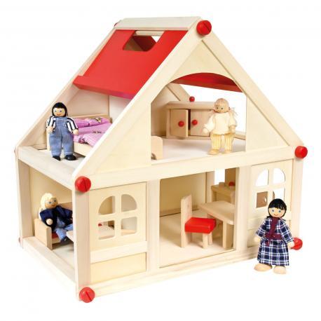Domeček pro panenky s vybavením střední