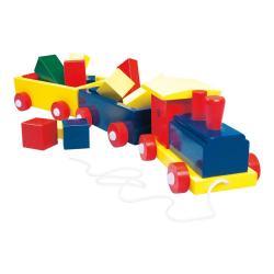 Vlak velký, barevný - 2 vagony