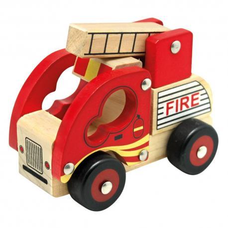 Dřevěné auto hasiči