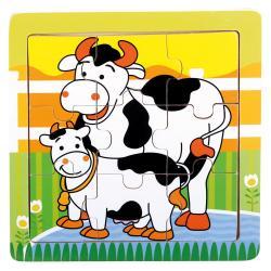 Dř. puzzle kravičky, 9 d.