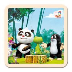 Krtek a Panda v lese,puzzle,4d