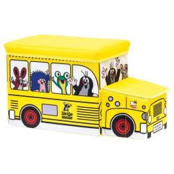 Krtek krabice na hračky - bus
